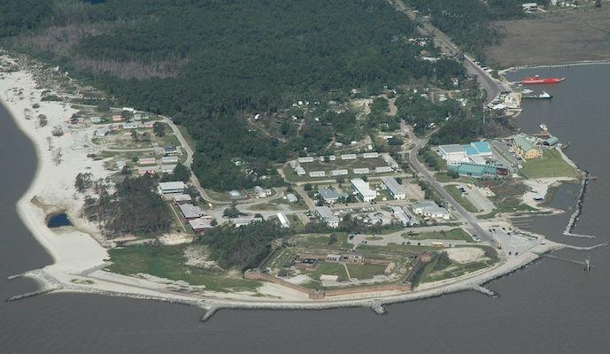 dauphin island aerial shot